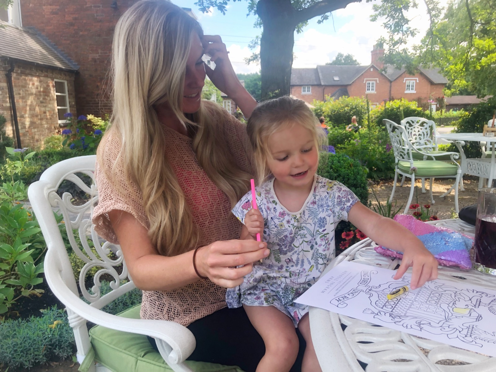 Mum and daughter dining in local country pub